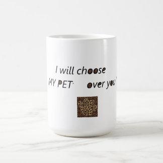 """Do """"amor animal de estimação """" caneca de café"""