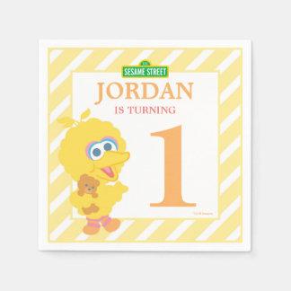 Do aniversário grande do pássaro do bebê guardanapo de papel