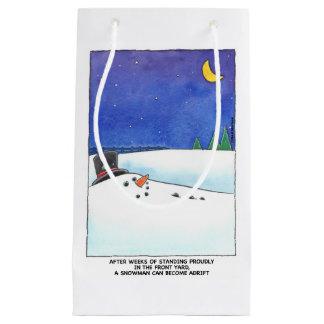 Do boneco de neve saco do presente à deriva sacola para presentes pequena