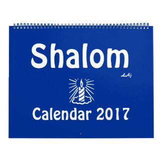 Do calendário claro da vela do azul de Shalom 2017