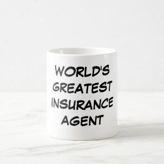 """Do """"caneca do grande agente de seguros mundo"""" caneca de café"""