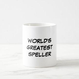 """Do """"caneca do grande Speller mundo"""" Caneca De Café"""