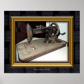 """Do """"cantor Machine vintage Pôster"""