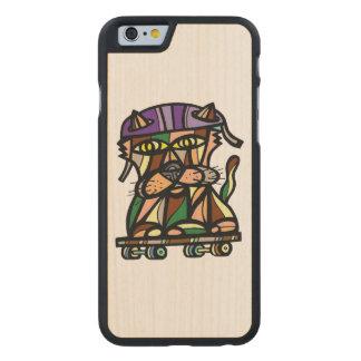 """Do """"capa de telefone de madeira do Kat patinador"""""""