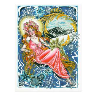 """Do """"cartão da mulher inverno"""" cartão postal"""