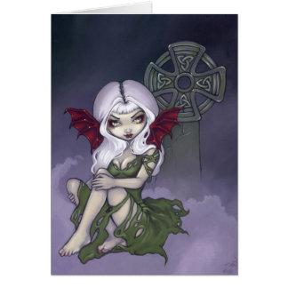 """Do """"cartão da névoa cemitério"""" cartão comemorativo"""