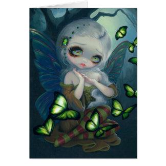 """Do """"cartão das borboletas absinto"""" cartão comemorativo"""