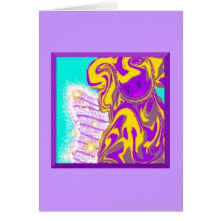 Do cartão de nota da fada de dente