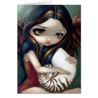 """Do """"cartão do anjo nautilus"""" cartão comemorativo"""