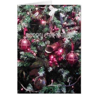 """Do """"cartão festivo das decorações da árvore Feliz Cartão"""