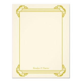 Do casamento tan do quadro de Deco obrigado que Convite 10.79 X 13.97cm