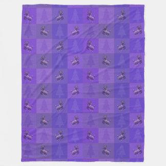 """Do """"cobertura do velo do teste padrão do unicórnio cobertor de lã"""