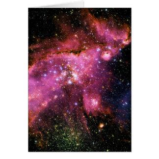 ~ do CONJUNTO de ESTRELA NGC-346 (o espaço) Cartão