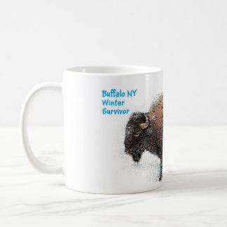 """Do """"copo do sobrevivente do inverno búfalo """" caneca"""