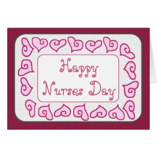 Do dia feliz das enfermeiras da FILHA cartão