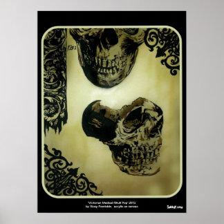 """Do """"Do pop médico do crânio Victorian poster"""""""