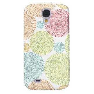 Do Doodle colorido de Pom das flores do arco-íris Galaxy S4 Covers