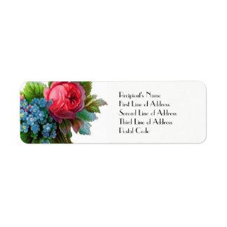 Do endereço do remetente floral do CASAMENTO do Etiqueta Endereço De Retorno