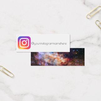 do espaço social dos meios do instagram cartão de