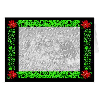 """Do """"flor Natal"""" no cartão verde - customizável"""