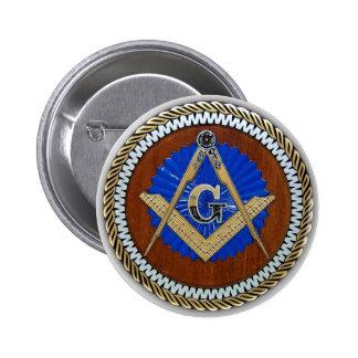 do freemason quadrado & compasso da conspiração AG Bóton Redondo 5.08cm