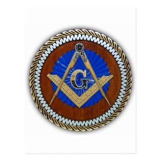 do freemason quadrado & compasso da conspiração cartão postal
