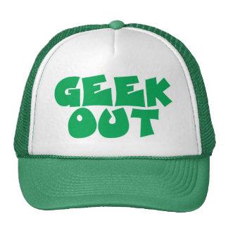 Do geek design de texto verde para fora boné