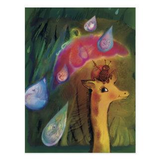 *** Do girafa e do joaninha Cartão Postal