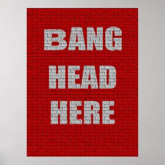 Do golpe da cabeça humor do escritório aqui poster