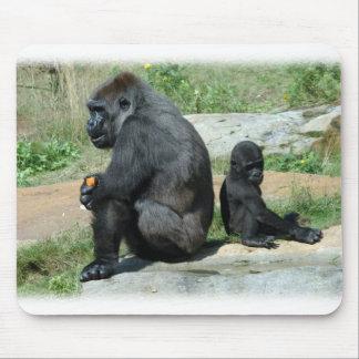 Do gorila do tempo tapete do rato para fora mouse pad