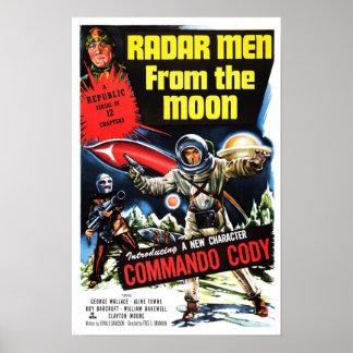 """Do """"homens radar poster da lua"""""""