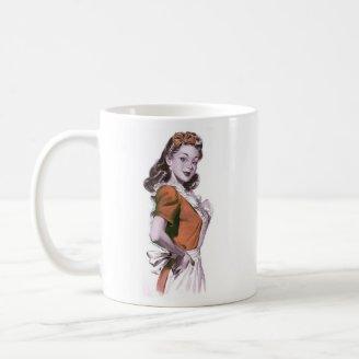 Do kitsch retro das mulheres do vintage dona de ca canecas