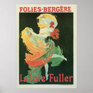 Do La francês do nouveau da arte do vintage Pôster
