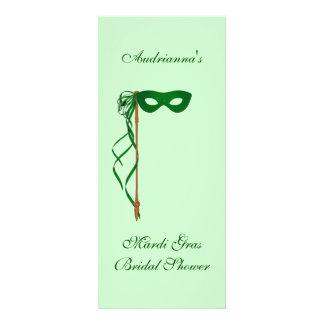 Do máscara verde do chá de panela carnaval - com convites personalizado