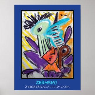 Do menina expressionista por Zermeno Impressão
