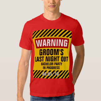 Do noivo despedida de solteiro de advertência a tshirt