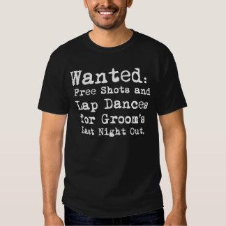 Do noivo t-shirt do despedida de solteiro a noite