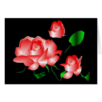 """Do """"obrigado que do falecimento do rosa rosa você"""" cartão comemorativo"""