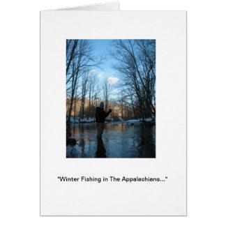 """Do """"pesca inverno nos Appalachians… Cartão De Nota"""