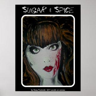 Do poster açúcar da especiaria