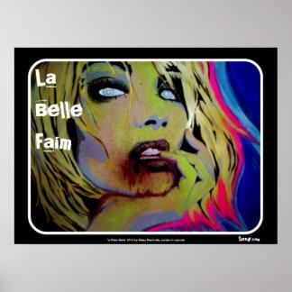 "Do ""poster do zombi de Faim do Belle La"" Pôster"