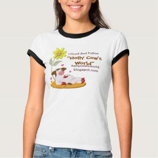 """Do """"promocional do mundo da vaca azevinho"""" tshirt"""