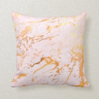 Do rosa cor-de-rosa do ouro do abstrato Pastel de Almofada