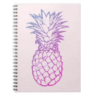 Do rosa roxo do abacaxi do brilho do falso caderno