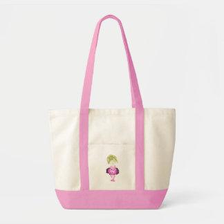 do saco cor-de-rosa da menina do balé do Senhorita Bolsa