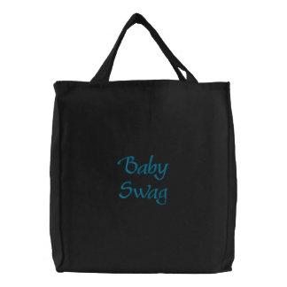 """Do """"sacola bordada azul dos ganhos bebê"""" bolsas"""