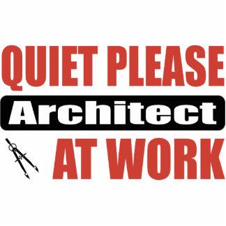 Do silêncio arquiteto por favor no trabalho escultura de foto