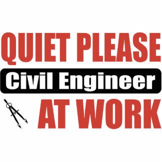 Do silêncio engenheiro civil por favor no trabalho escultura fotos
