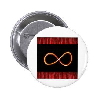 Do símbolo infinito do OURO da INFINIDADE arte grá Pins