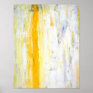 """Do """"suporte arte abstracta cinzenta e amarela de poster"""